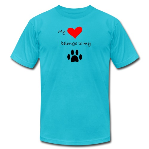 Dog Lovers shirt - My Heart Belongs to my Dog - Men's  Jersey T-Shirt
