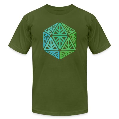 Green Leaf Geek Iconic Logo - Men's  Jersey T-Shirt