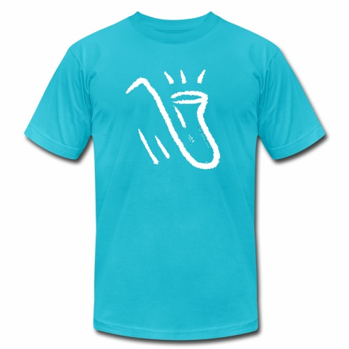 Saxophone white - Unisex Jersey T-Shirt by Bella + Canvas