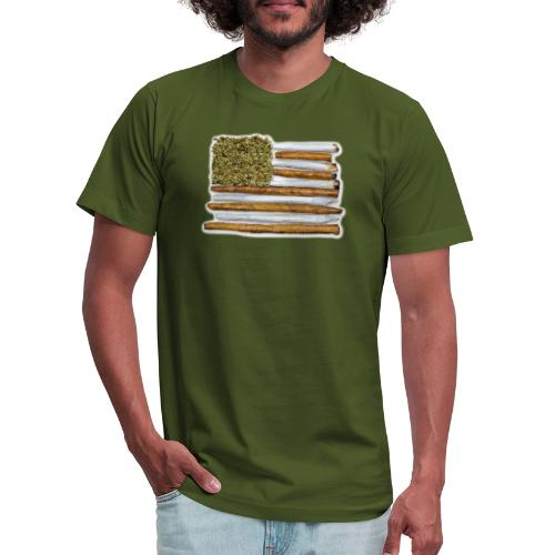 American Flag With Joint - Unisex Jersey T-Shirt by Bella + Canvas