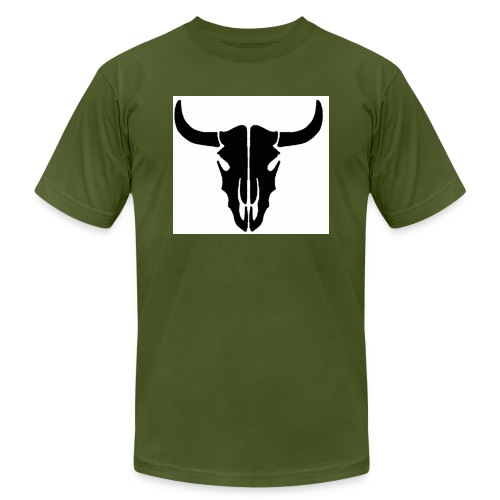 Longhorn skull - Unisex Jersey T-Shirt by Bella + Canvas