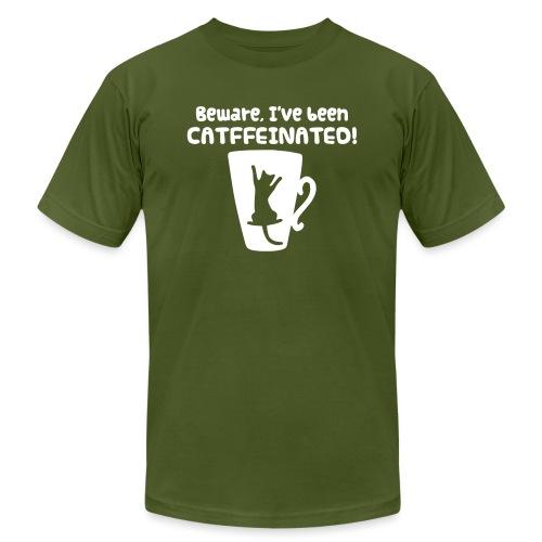 CATffeinated - Unisex Jersey T-Shirt by Bella + Canvas