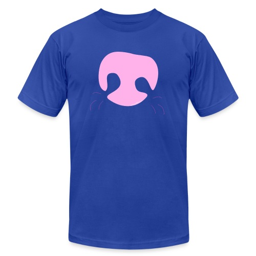 Pink Whimsical Dog Nose - Unisex Jersey T-Shirt by Bella + Canvas