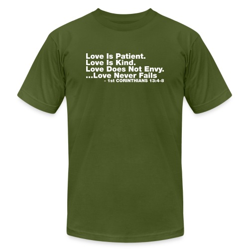 Love Bible Verse - Men's  Jersey T-Shirt
