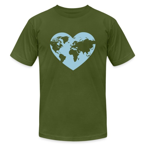 Earth Love - Unisex Jersey T-Shirt by Bella + Canvas