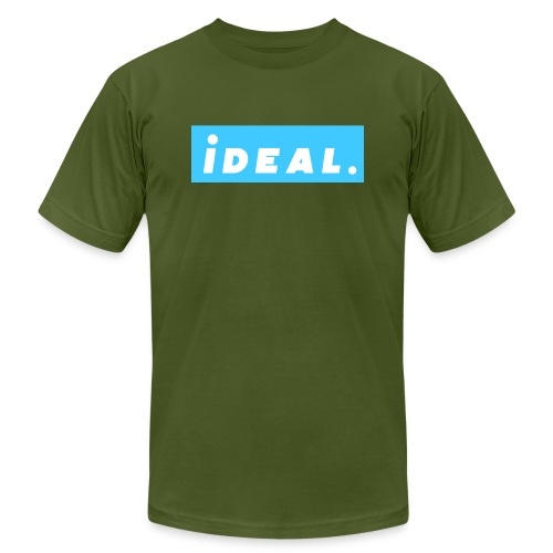 rare ideal blue logo - Unisex Jersey T-Shirt by Bella + Canvas