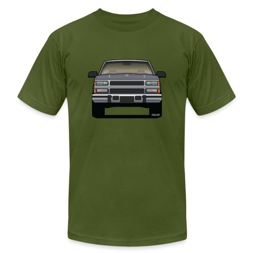 Design Icon: American Bowtie Silver Urban Truck - Unisex Jersey T-Shirt by Bella + Canvas