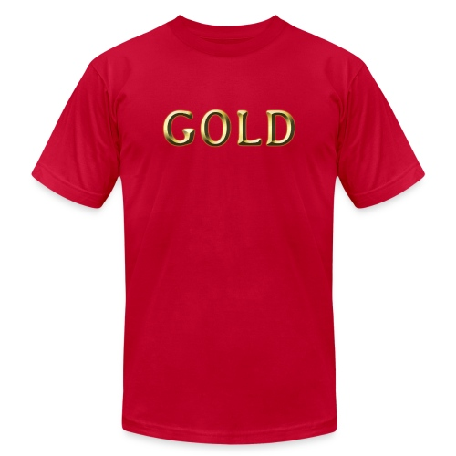 GOLD - Unisex Jersey T-Shirt by Bella + Canvas