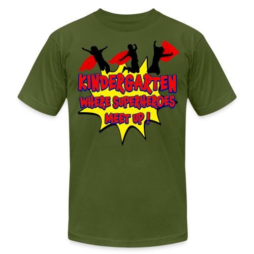 Kindergarten where SUPERHEROES meet up! - Unisex Jersey T-Shirt by Bella + Canvas