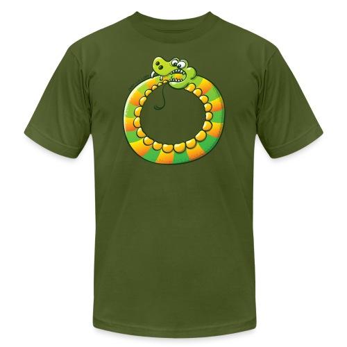 Crazy Snake Biting its own Tail - Men's Jersey T-Shirt