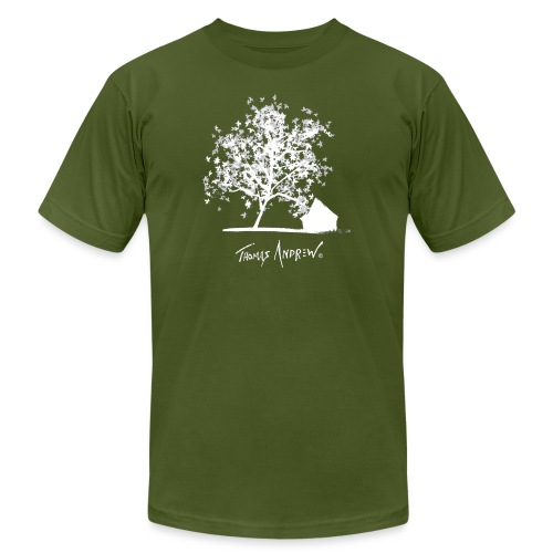 White Tree with Black Bac - Unisex Jersey T-Shirt by Bella + Canvas
