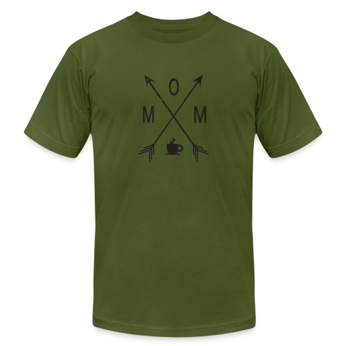 Mom Loves Coffee (black ink) - Men's Jersey T-Shirt