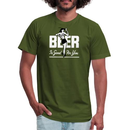 Beer is Good for You Retro - Unisex Jersey T-Shirt by Bella + Canvas
