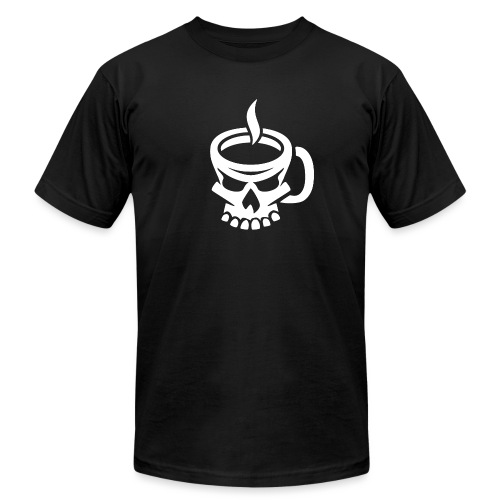 Caffeinated Coffee Skull - Unisex Jersey T-Shirt by Bella + Canvas