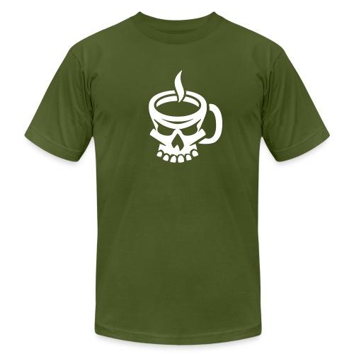 Caffeinated Coffee Skull - Men's Jersey T-Shirt