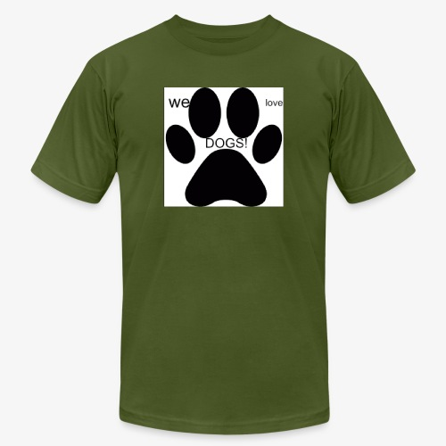 WE LOVE DOGS!!!!!!! - Unisex Jersey T-Shirt by Bella + Canvas
