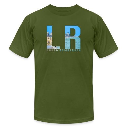 Beach LR Logo - Men's  Jersey T-Shirt
