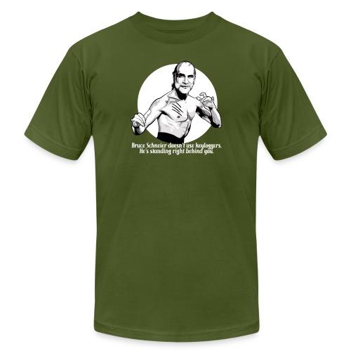 schneier11 martial white - Unisex Jersey T-Shirt by Bella + Canvas