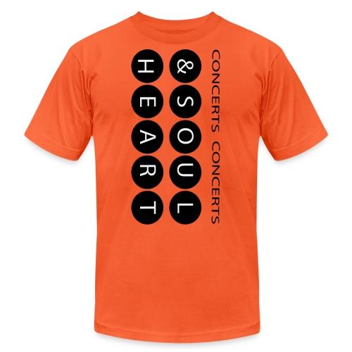 Heart & Soul concerts text design 2021 flip - Unisex Jersey T-Shirt by Bella + Canvas