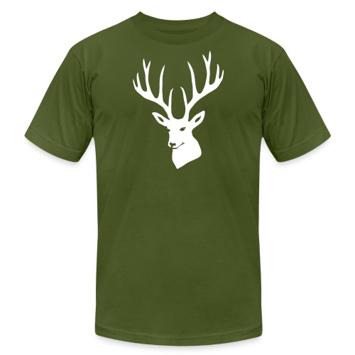 stag night deer buck antler hart cervine elk - Unisex Jersey T-Shirt by Bella + Canvas