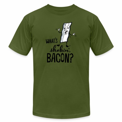 What's Shakin' Bacon - Unisex Jersey T-Shirt by Bella + Canvas