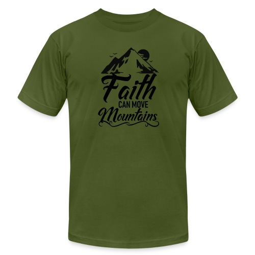 Faith can move mountains - Men's Jersey T-Shirt