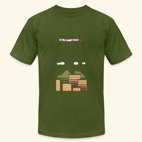 8-Bit Sky grund (for use with 8-Bit Sky plane) - Unisex Jersey T-Shirt by Bella + Canvas