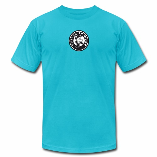 Solid Puttin' In Work Logo - Men's  Jersey T-Shirt
