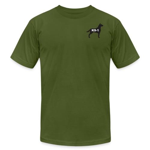 K9-1 logo - Unisex Jersey T-Shirt by Bella + Canvas