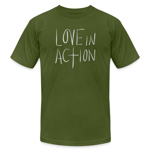 06 Love In Action png - Unisex Jersey T-Shirt by Bella + Canvas