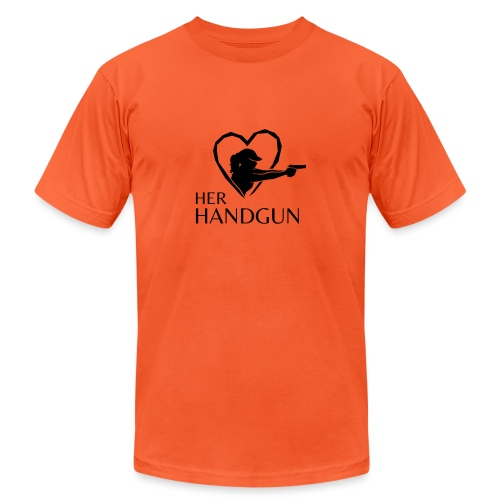 Official HerHandgun Logo - Unisex Jersey T-Shirt by Bella + Canvas