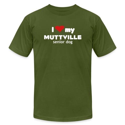 Muttville 3000 back wht - Unisex Jersey T-Shirt by Bella + Canvas