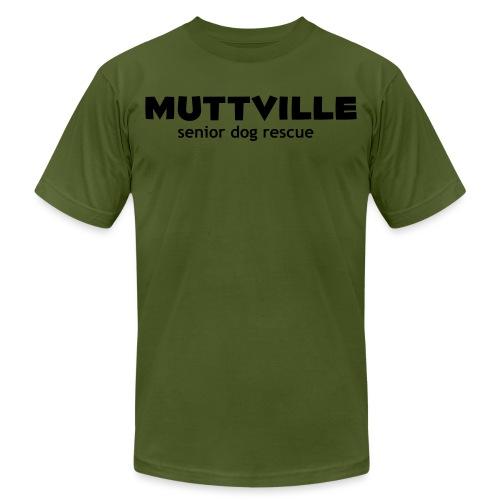 muttville blk - Unisex Jersey T-Shirt by Bella + Canvas