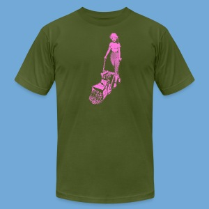 Roto-Hoe pink. - Men's T-Shirt by American Apparel