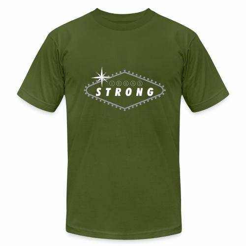Vegas Strong Sign (white) - Men's Fine Jersey T-Shirt