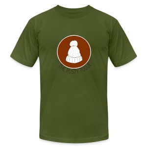 The Rusty Toque Brown Logo 2 - Men's T-Shirt by American Apparel