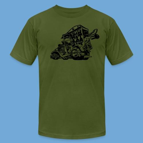 White's Pit Stop - Black - Men's Fine Jersey T-Shirt