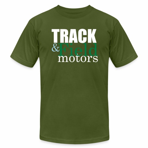Track and Field Logo - Men's  Jersey T-Shirt