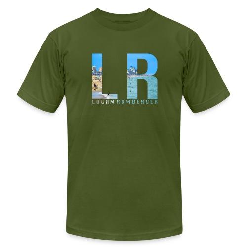 Beach LR Logo - Men's Fine Jersey T-Shirt