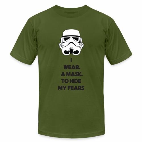 Storm Troopers Mask - Black Text - Men's Fine Jersey T-Shirt