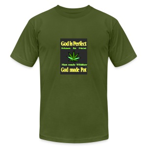 God made Pot - Men's T-Shirt by American Apparel