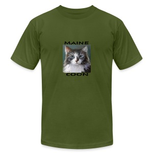 Maine Coon Cat - Men's T-Shirt by American Apparel