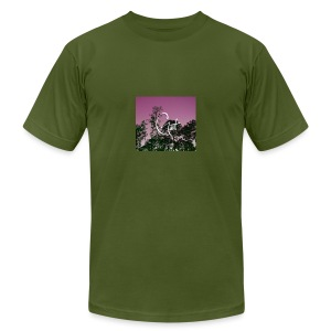 Pink Forest Gart - Men's T-Shirt by American Apparel