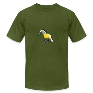 fjord_horse - Men's T-Shirt by American Apparel
