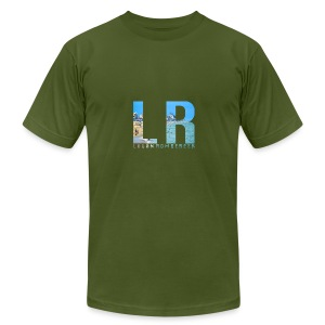 Beach LR Logo - Men's Fine Jersey T-Shirt