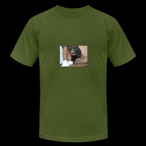 self modeled - Men's Fine Jersey T-Shirt