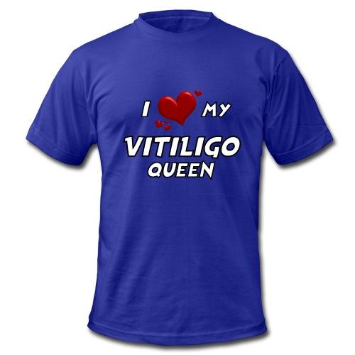 I love my vitiligo queen - Men's  Jersey T-Shirt