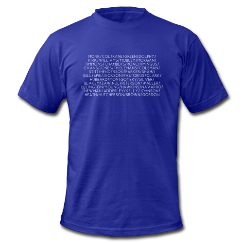 Jazz Greats 1 TShirt (White Lettering) - Men's  Jersey T-Shirt