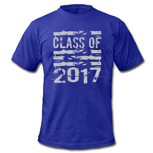 Class of 2017 Cool Grunge Typography - Men's Fine Jersey T-Shirt