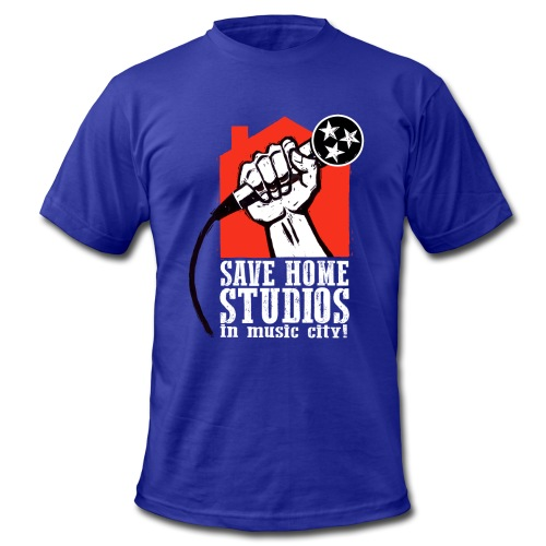 Save Home Studios In Music City - Men's  Jersey T-Shirt